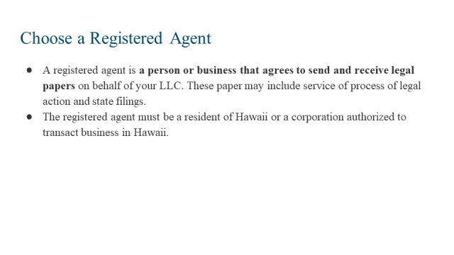 How to Form an LLC in Hawaii 3
