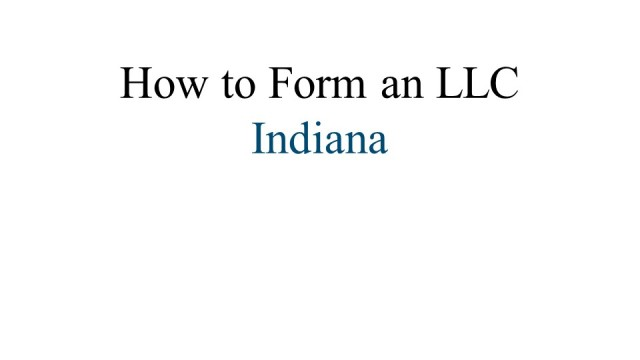 How to Form an LLC Indiana 1