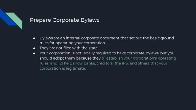 New Corporation Formation in NJ 6